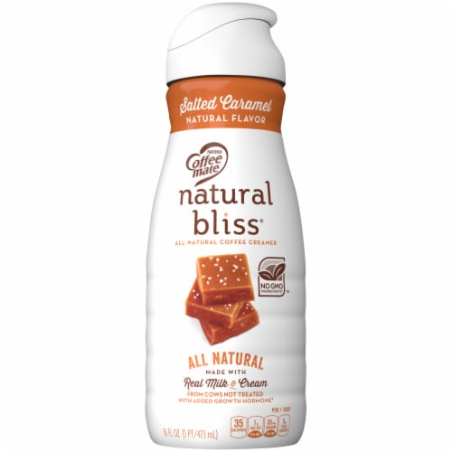 Nestle Coffeemate Natural Bliss Salted Caramel Liquid Coffee Creamer Image Perspective Front