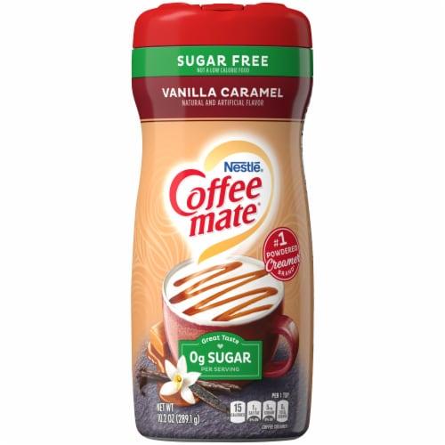 Coffee-mate Sugar Free Vanilla Caramel Powder Coffee Creamer Perspective: front