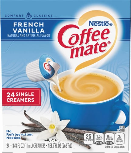 Coffee-mate French Vanilla Liquid Coffee Creamers 24 Count Perspective: front