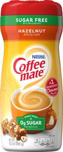 Nestle Coffee mate Sugar Free Hazelnut Powder Coffee Creamer Perspective: front