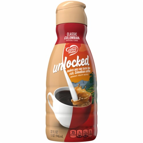 Coffee-mate Unlocked Classic Colombian Coffee Creamer Perspective: front