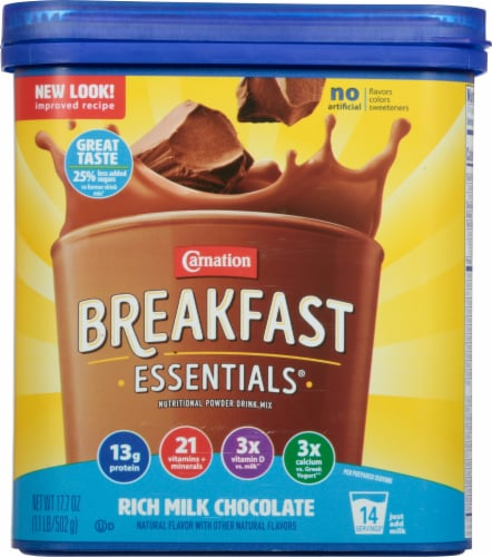 Carnation Breakfast Essentials Rich Milk Chocolate Mix Perspective: front
