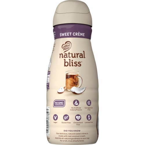 Coffee mate Natural Bliss Sweet Creme Coconut Milk Liquid Coffee Creamer Perspective: front