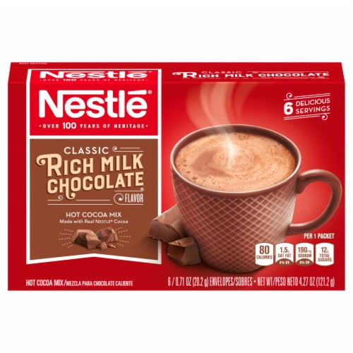 Nestlé Rich Milk Chocolate Hot Cocoa Mix 6 Count Perspective: front
