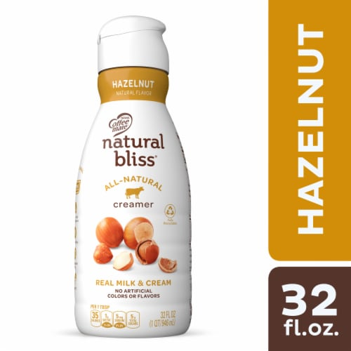 Coffee-mate Natural Bliss Hazelnut Liquid Coffee Creamer Perspective: front