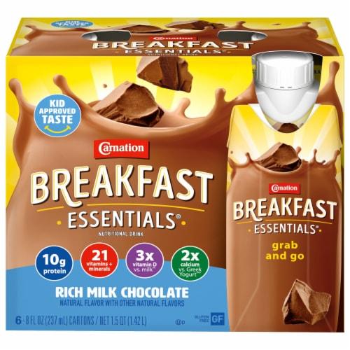 Carnation Breakfast Essentials Rich Milk Chocolate Drink Perspective: front