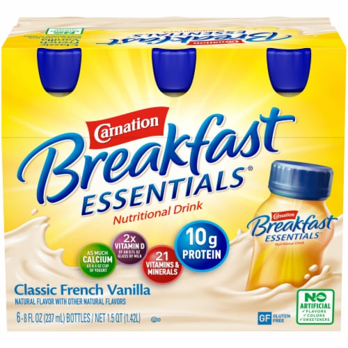 Carnation Breakfast Essentials Classic French Vanilla Drink Perspective: front