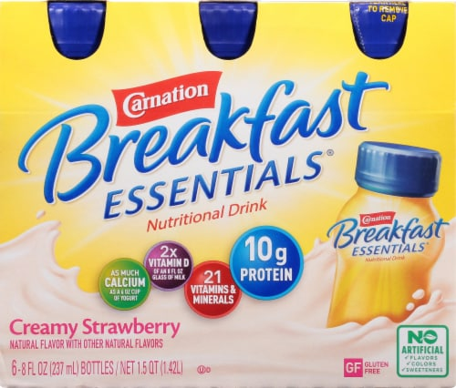 Carnation Breakfast Essentials Creamy Strawberry Drink Perspective: front
