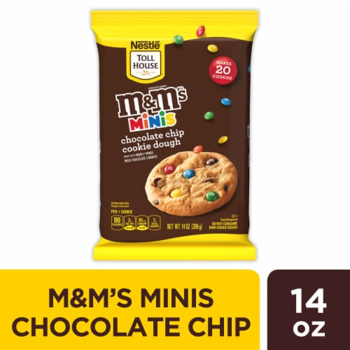 Nestle Toll House M&M's Minis Chocolate Chip Cookie Dough Perspective: front