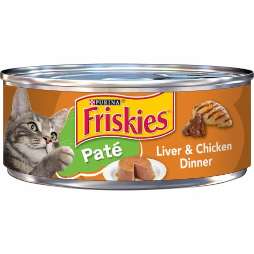 Friskies Liver & Chicken Dinner Pate Wet Cat Food Perspective: front