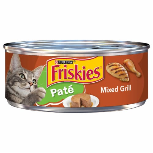 Friskies Pate Mixed Grill Adult Wet Cat Food Perspective: front