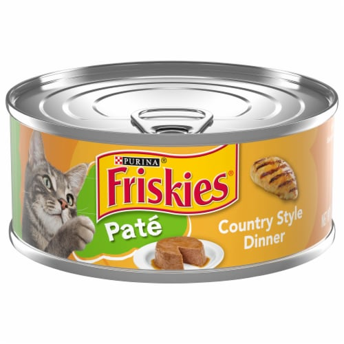 Friskies Pate Country Style Dinner Adult Wet Cat Food Perspective: front