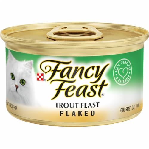 Fancy Feast Flaked Trout Feast Wet Cat Food Perspective: front