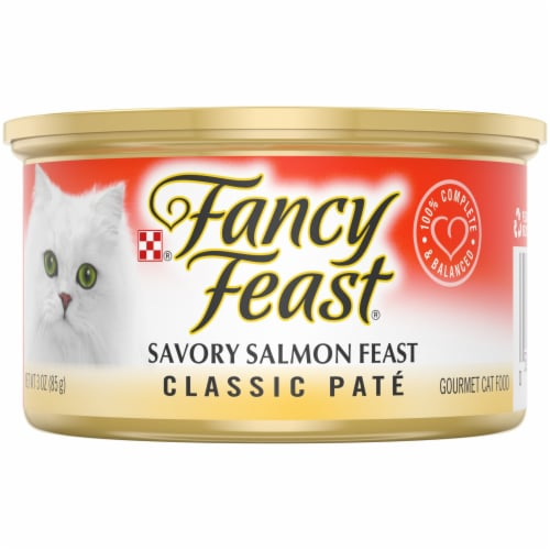 Purina Fancy Feast Classic Pate Savory Salmon Feast Wet Cat Food Perspective: front