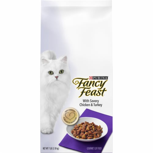 Fancy Feast with Savory Chicken & Turkey Dry Cat Food Perspective: front