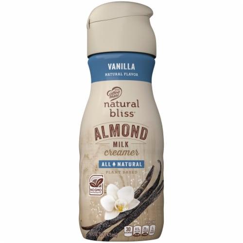 Coffee mate Natural Bliss Vanilla Almond Milk Liquid Coffee Creamer Perspective: front