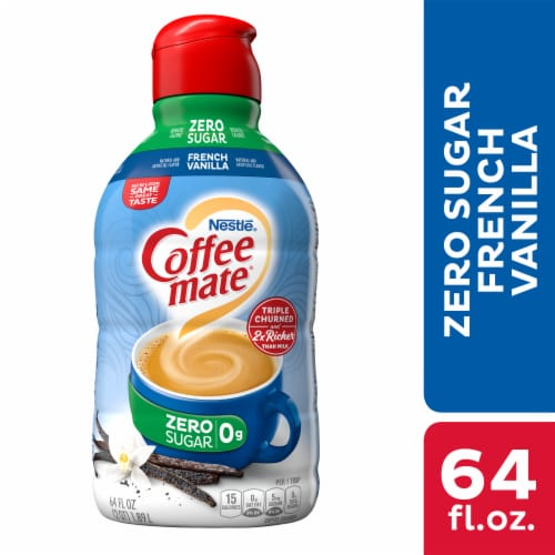 Coffee-mate Sugar Free French Vanilla Liquid Coffee Creamer Perspective: front