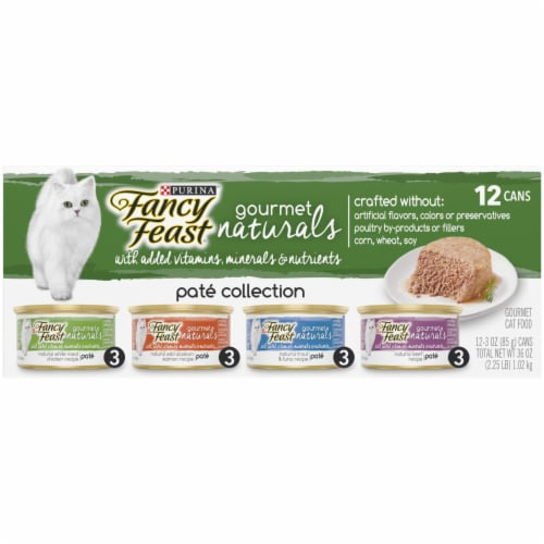 Fancy Feast Gourmet Naturals Pate Collection Wet Cat Food Perspective: front