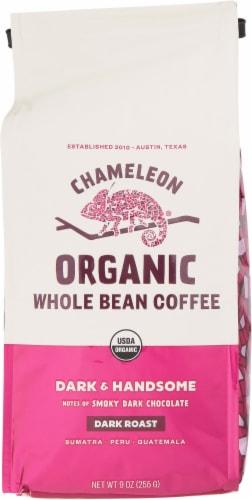 Chameleon Organic Dark & Handsome Dark Roast Whole Bean Coffee Perspective: front