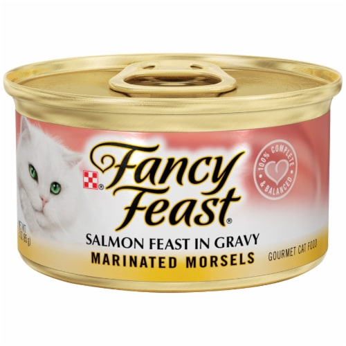 Fancy Feast Marinated Morsels Salmon Feast in Gravy Wet Cat Food Perspective: front