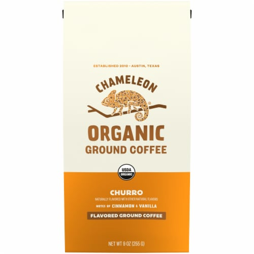 Chameleon Organic Churro Flavored Ground Coffee Perspective: front