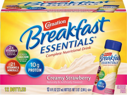 Carnation Breakfast Essentials Creamy Strawberry Nutritional Drinks Perspective: front