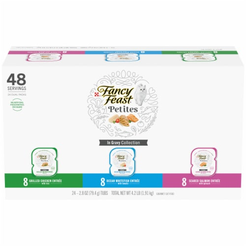 Fancy Feast® Petites in Gravy Wet Cat Food Variety Pack Perspective: front