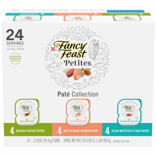 Fancy Feast Petites Pate Collection Gourmet Cat Food Perspective: front