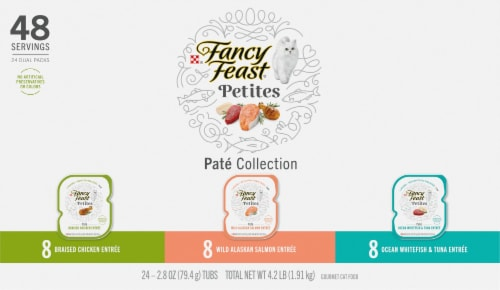 Fancy Feast® Petites Pate Collection Wet Cat Food Perspective: front