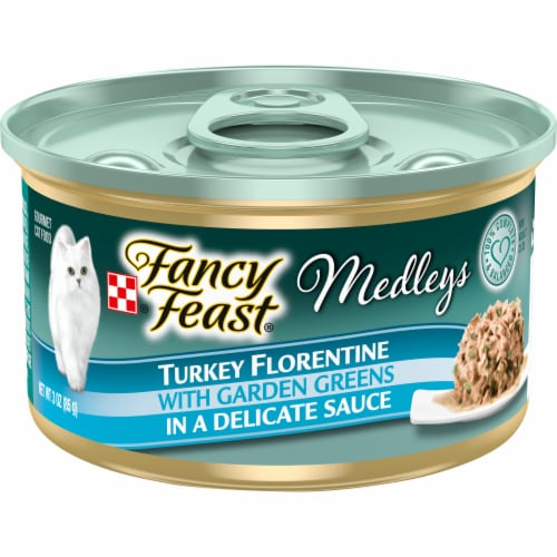 Purina Fancy Feast Medleys Turkey Florentine Adult Wet Cat Food Perspective: front