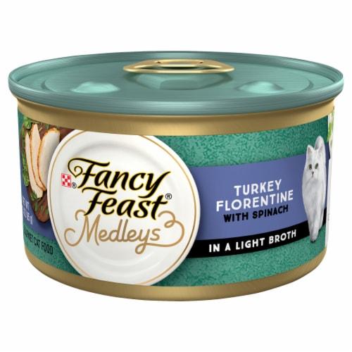Fancy Feast® Medleys Turkey Florentine Adult Wet Cat Food Perspective: front