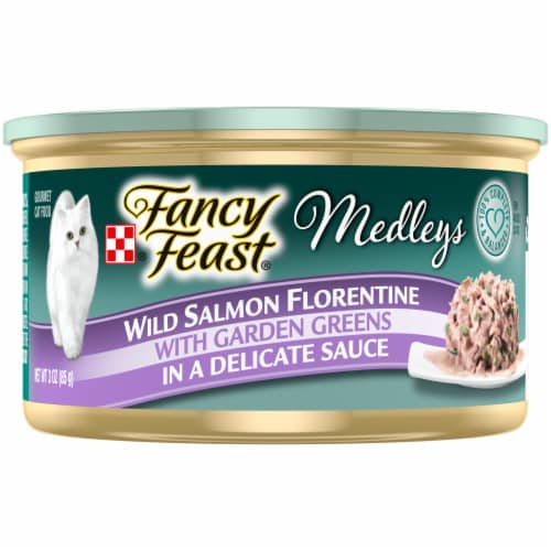 Purina Fancy Feast Medleys Wild Salmon Florentine Wet Cat Food Perspective: front