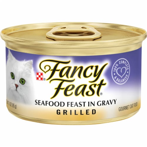 Fancy Feast® Grilled Seafood Feast in Gravy Wet Cat Food Perspective: front