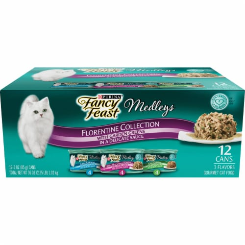 Fancy Feast Medleys Florentine Collection Wet Cat Food Variety Pack Perspective: front