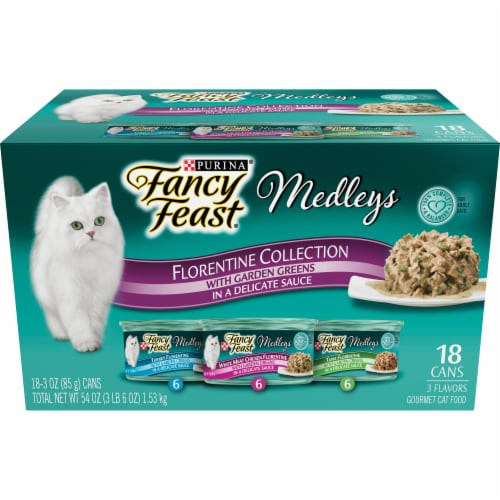 Fancy Feast Gourmet Cat Food Medleys Florentine Collection Variety Pack Perspective: front