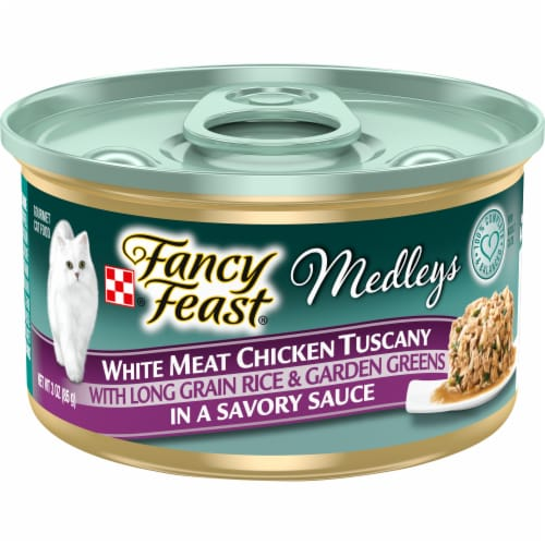 Purina Fancy Feast Medleys White Meat Chicken Tuscany Wet Cat Food Perspective: front