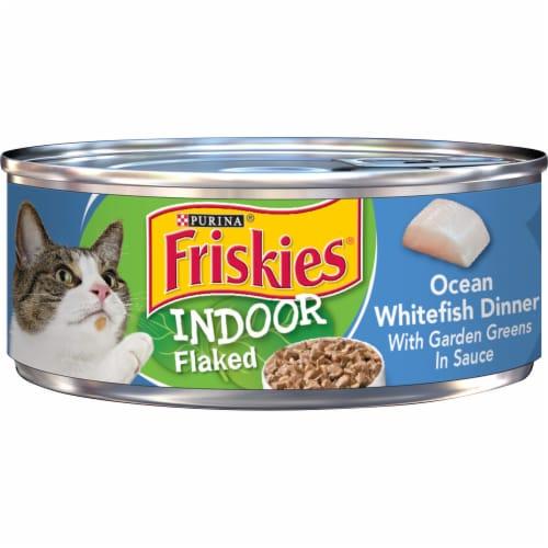 Friskies Indoor Ocean Whitefish Dinner Wet Cat Food Perspective: front