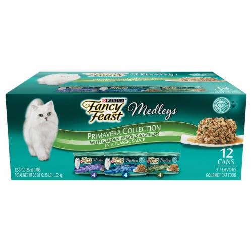 Fancy Feast Medleys Primavera Collection Wet Cat Food Variety Pack 12 Count Perspective: front