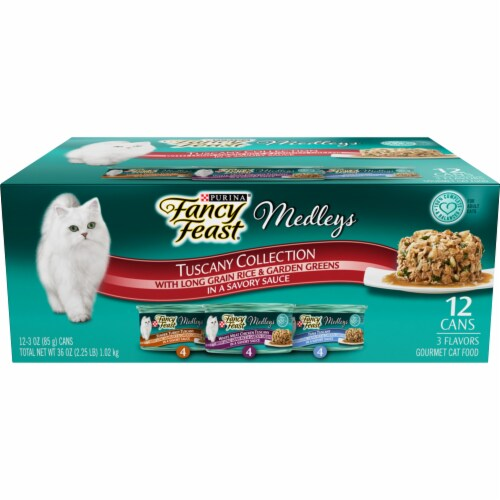 Purina Fancy Feast Elegant Medleys Tuscany Collection Wet Cat Food Variety Pack Perspective: front