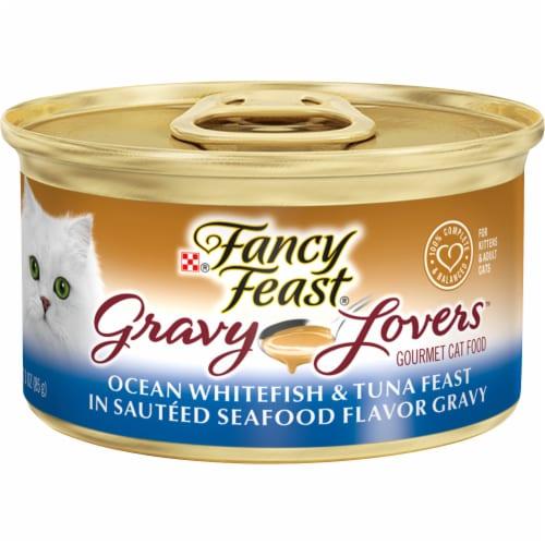 Fancy Feast Gravy Lovers Ocean Whitefish & Tuna Feast Wet Cat Food Perspective: front