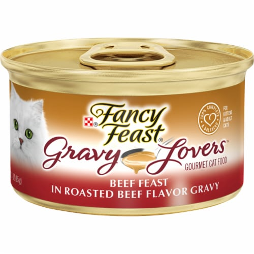 Fancy Feast Gravy Lovers Beef Feast in Roasted Beef Flavor Gravy Wet Cat Food Perspective: front