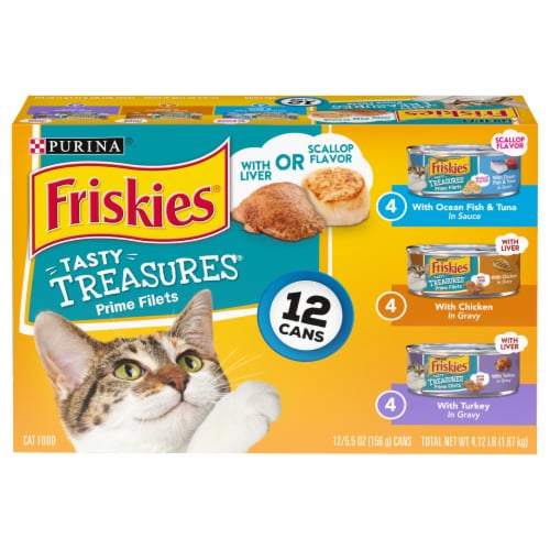 Friskies Tasty Treasures Wet Cat Food Variety Pack Perspective: front