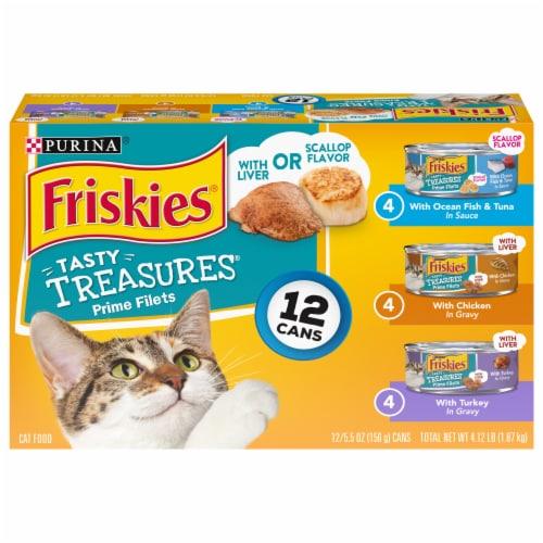 Friskies Tasty Treasures Wet Cat Food Variety Pack Perspective: front