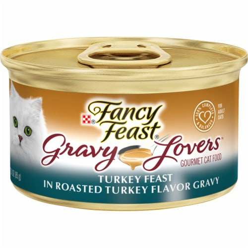 Fancy Feast Gravy Lovers Turkey Feast in Roasted Turkey Flavor Gravy Wet Cat Food Perspective: front