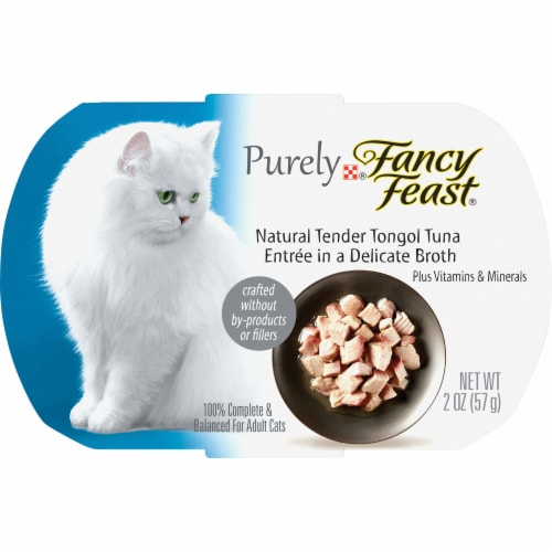 Fancy Feast Purely Natural Tender Tongol Tuna Wet Cat Food Perspective: front