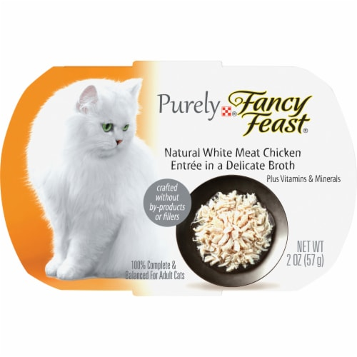 Fancy Feast Purely Natural White Meat Chicken Wet Cat Food Perspective: front