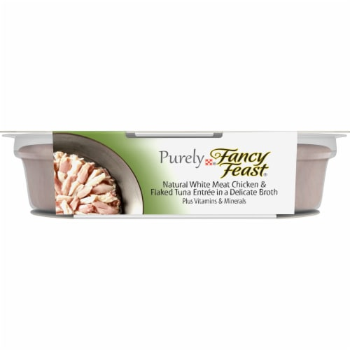 Fancy Feast Purely Natural White Meat Chicken & Flaked Tuna Wet Cat Food Perspective: front