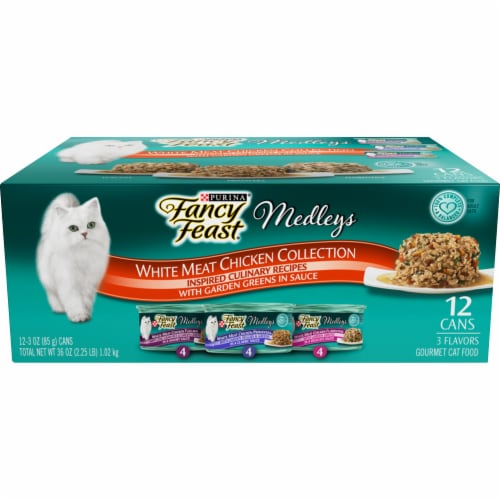 Fancy Feast Elegant Medleys White Meat Chicken Wet Cat Food Variety Pack Perspective: front