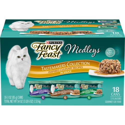 Fancy Feast Medleys Tastemakers Collection Wet Cat Food Variety Pack Perspective: front