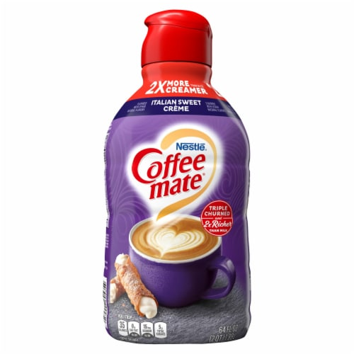 Nestle Coffee mate Italian Sweet Creme Liquid Coffee Creamer Perspective: front